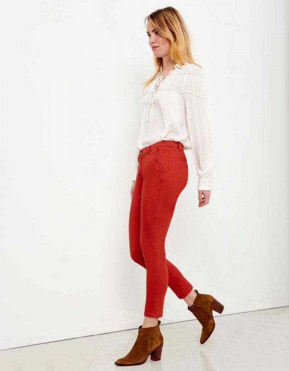 Chino Trousers Sandy Skinny - TERRE ROUGE