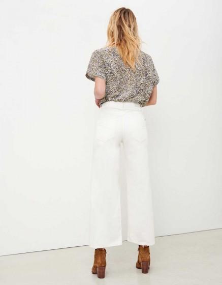 Jean wide cropped Poppy - DENIM WHITE