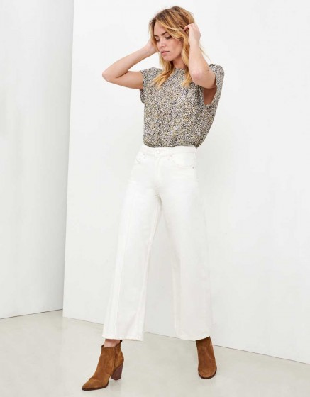 Wide cropped jean Poppy - DENIM WHITE