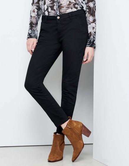 Pantalon chino Sandy Skinny - BLACK