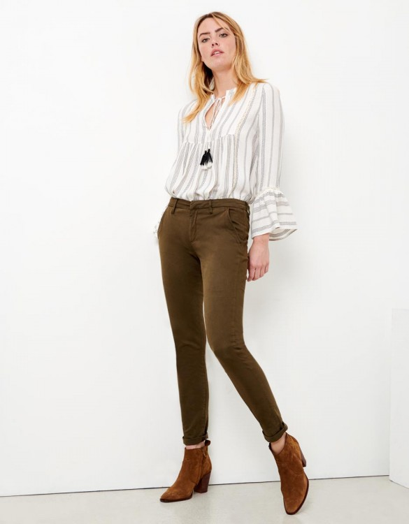 Pantalon chino Sandy - DARK KAKI
