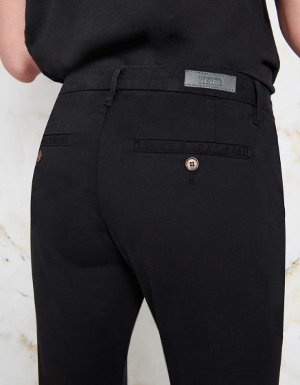 Chino Trousers Sandy - BLACK