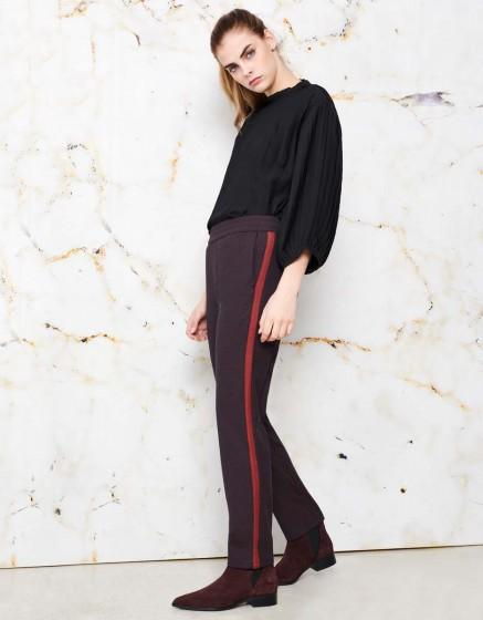 Street trousers Elvin Fancy - GARNET