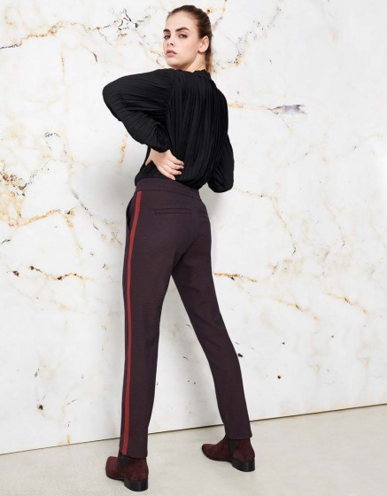 Street trousers Elvin Fancy - GARNET