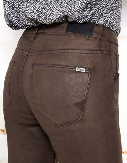 Skinny cropped trousers Lily Enduction - ANTIC BROWN