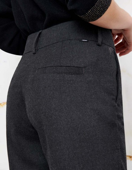 Straight cropped trousers Luis Fancy - GREY SHADOW