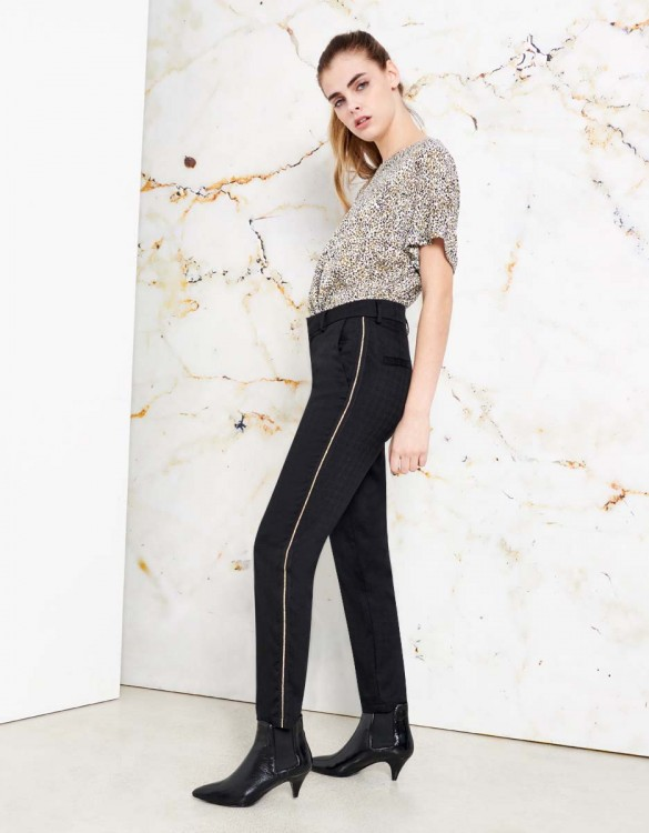 Pantalon cigarette Lizzy Fancy - HERRING BLACK