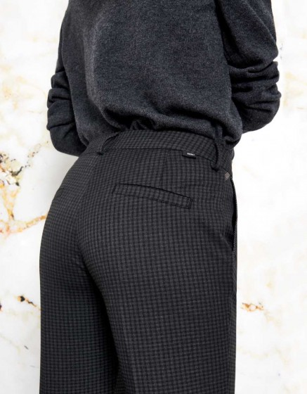 Pantalon cigarette Lizzy Fancy Ribbon - GREY CHECK