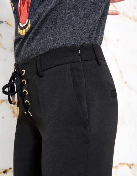Cigarette Trousers Louison color - BLACK