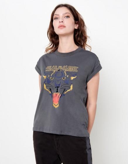 Tee-shirt Talia - CARBONE