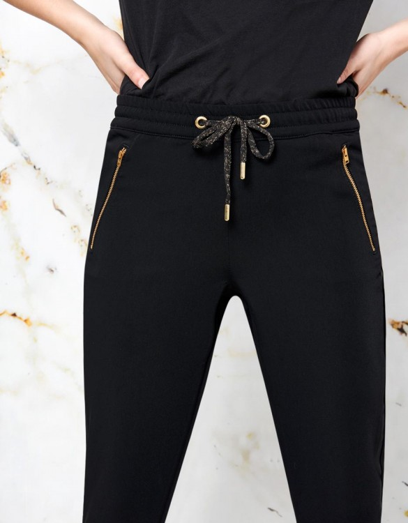 Street trousers Esteban - BLACK