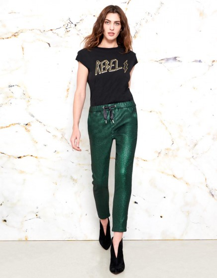 Faustine Trousers - SHINY GREEN