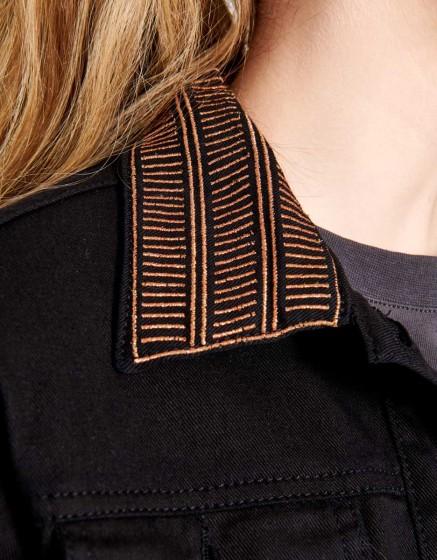 Black Denim jacket Justine - DNM BLACK