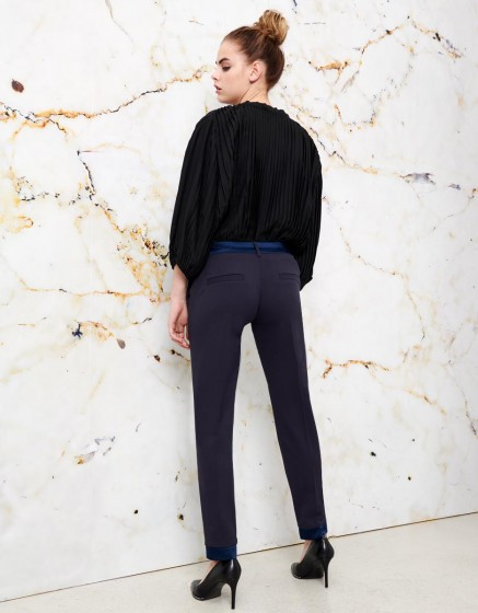 Trousers Cigarette Leandro - NAVY