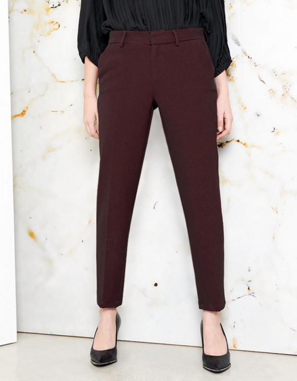 Cigarette Trousers Lizzy Fancy - DARK WINE