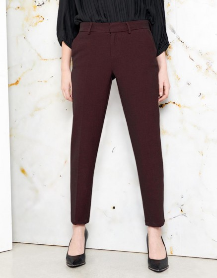 Pantalon cigarette Lizzy Fancy - DARK WINE