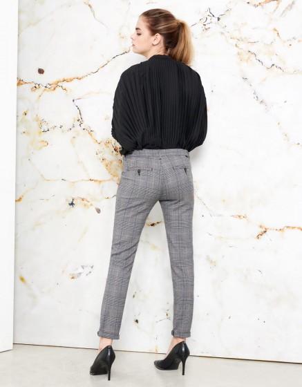Pantalon chino Sandy Fancy - SILVER CHECK