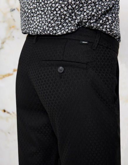 Chino Trousers Sandy Fancy - SCALY BLACK
