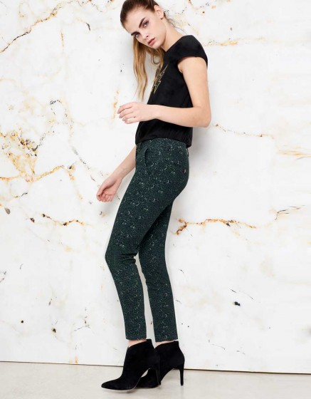 Chino Sandy Skinny Printed - GREEN LEO
