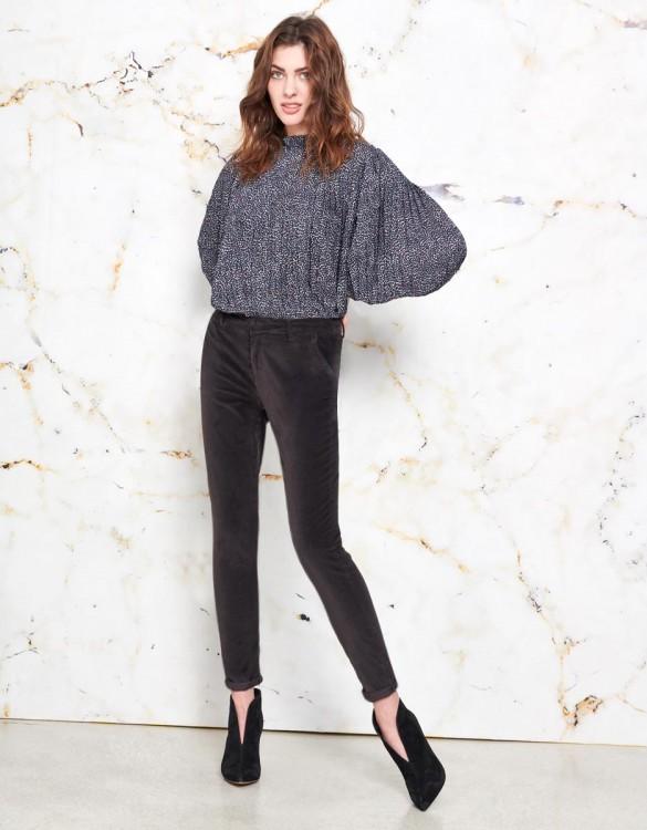 Chino Trousers Sandy Velvet - CARBONE