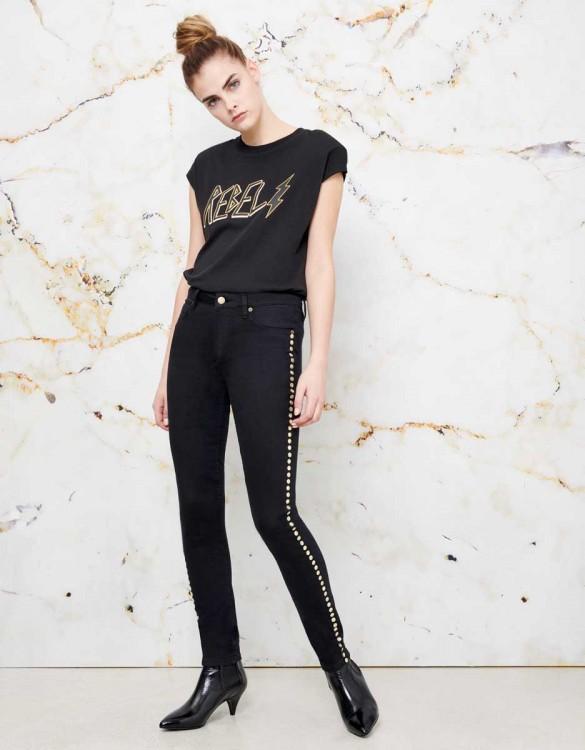 Skinny jean Noris Studs - DNM BLACK