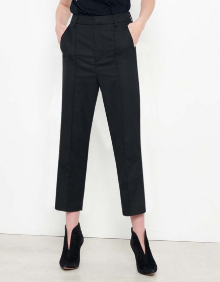 Straight Cropped Jean Lorenzo Fancy - GLITTER BLACK