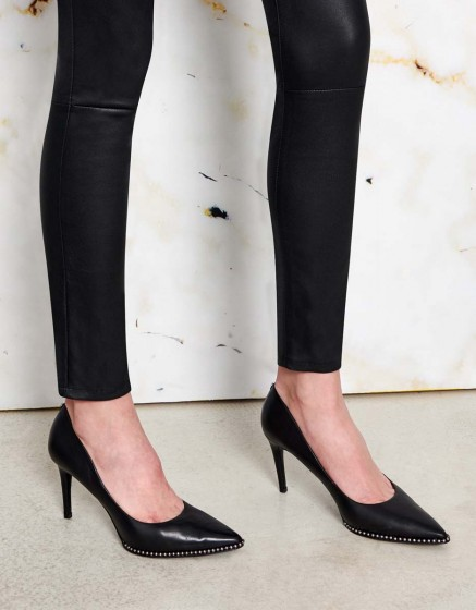 Jean skinny Nelly cuir - BLACK