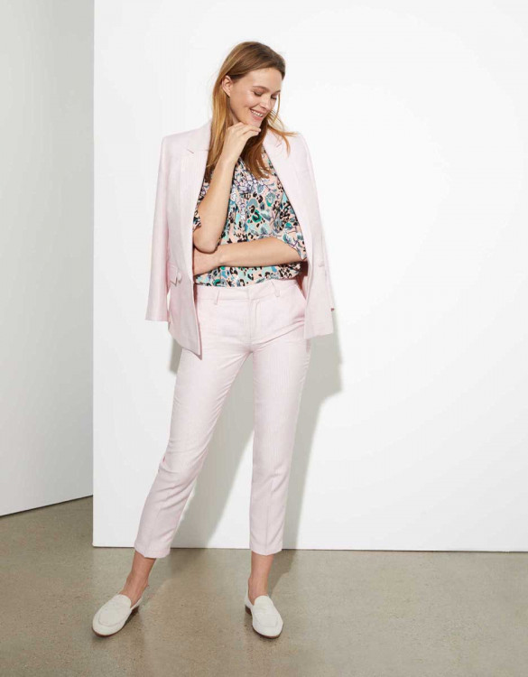 Pantalon cigarette Liv Fancy - BABY PINK TILES