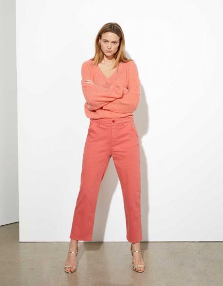 Chino trousers highwaist cropped Sandy - CAYENNE