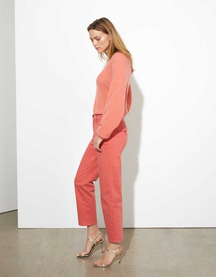 Chino trousers highwaist cropped Sandy - CAYENNE