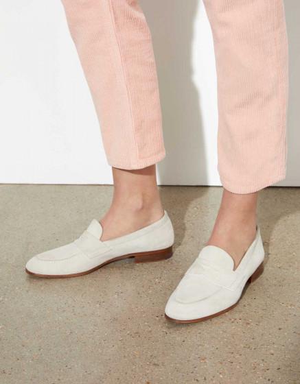 Trousers highwaist cropped Milo Velvet - BABY PINK
