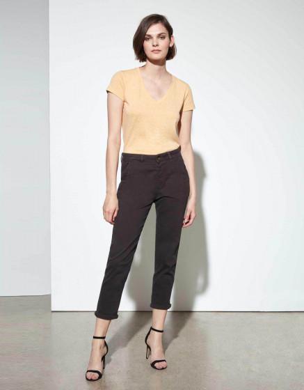 Pantalon chino Sandy Tapered - CARBONE