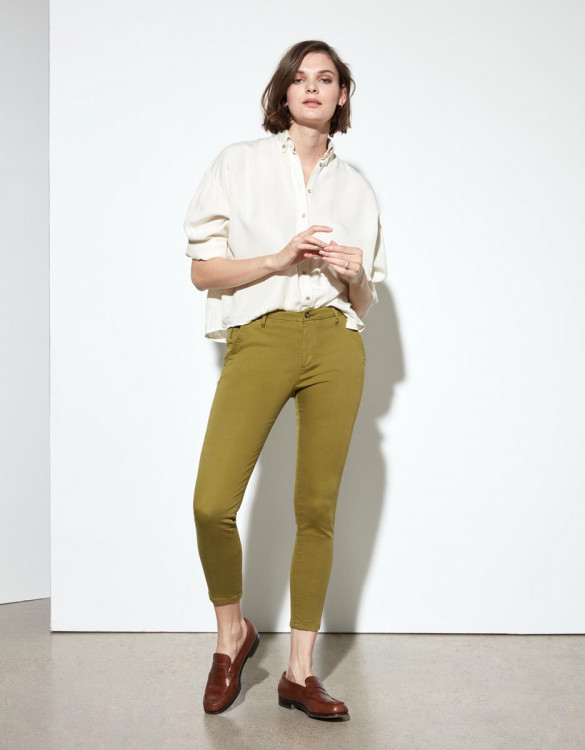 Pantalon chino Sandy Cropped - LIME TREE