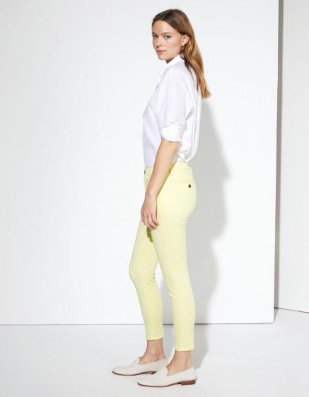 Pantalon chino Sandy Cropped - SORBET BANANE