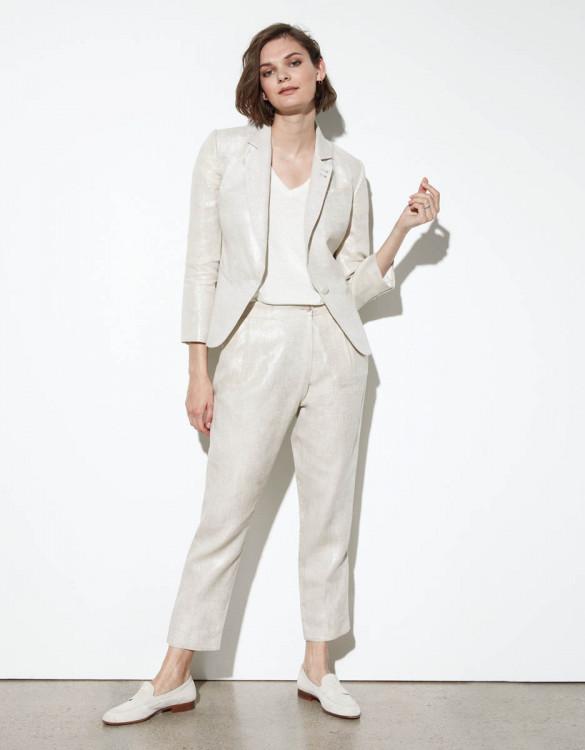 Loose cigarette trousers Luna Linen - TWINKLE SAND