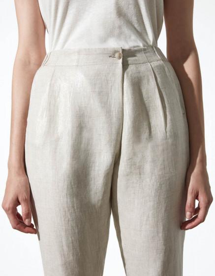 Pantalon loose cigarette Luna Linen - TWINKLE SAND