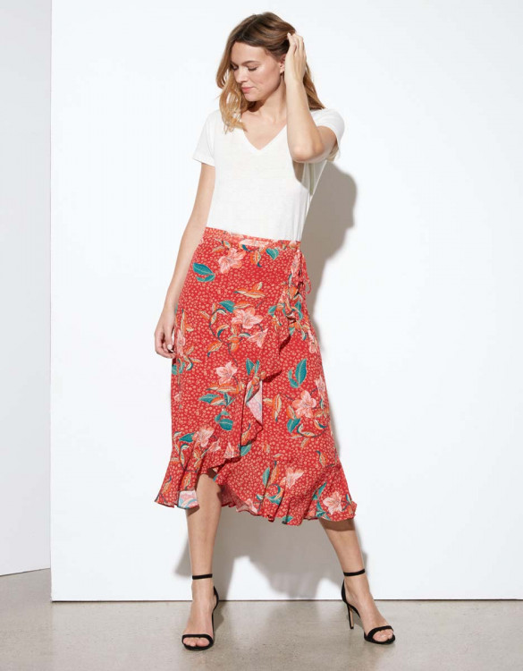 Skirt Jackson - RED BLOSSOM