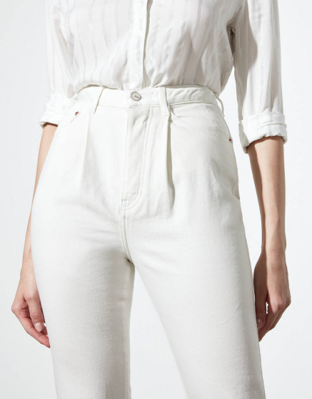 Jean highwaist Adana - DNM OFF WHITE