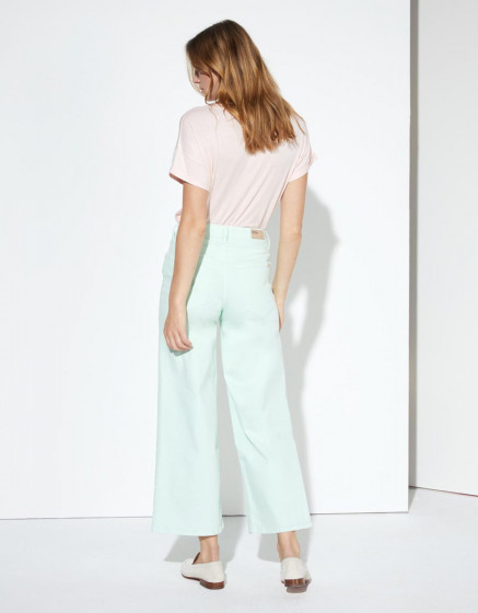 Jean wide Poppy Color - NEO MINT