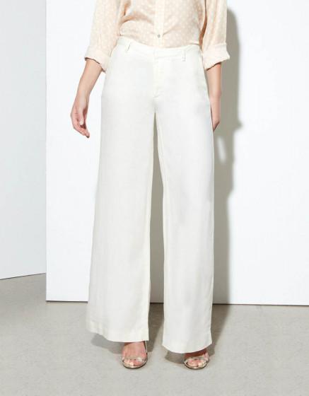 Pantalon wide Pamelo Linen - GINGER