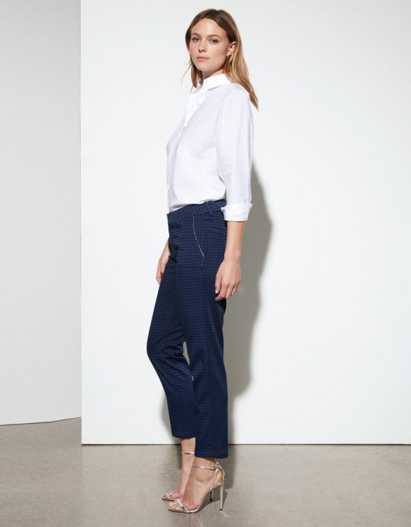 Cigarette trousers Liv Fancy Ribbon - DARK NAVY
