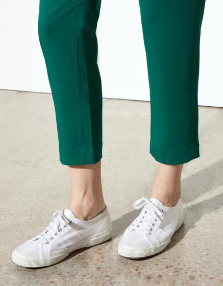 Pantalon loose cigarette Luna Color - EMERALD GREEN