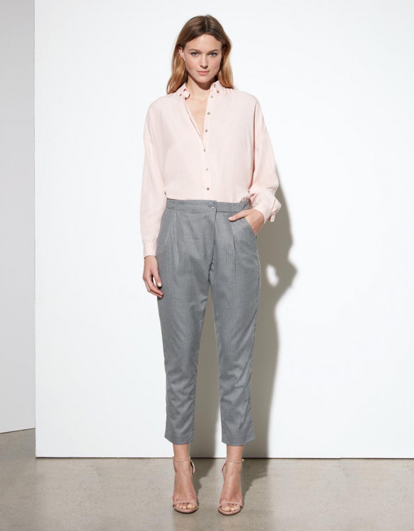 Loose cigarette trousers Luna Fancy - PINK TAILORING