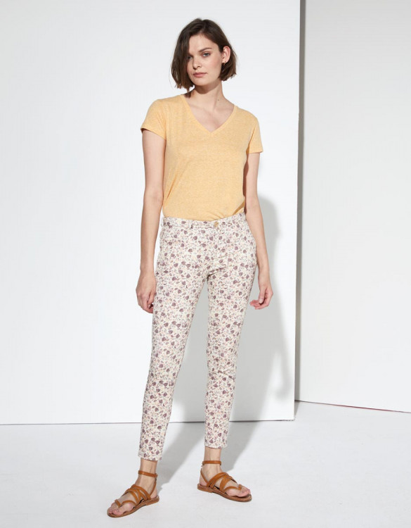 Chino trousers Sandy Cropped Printed - CASHMERE FOLK
