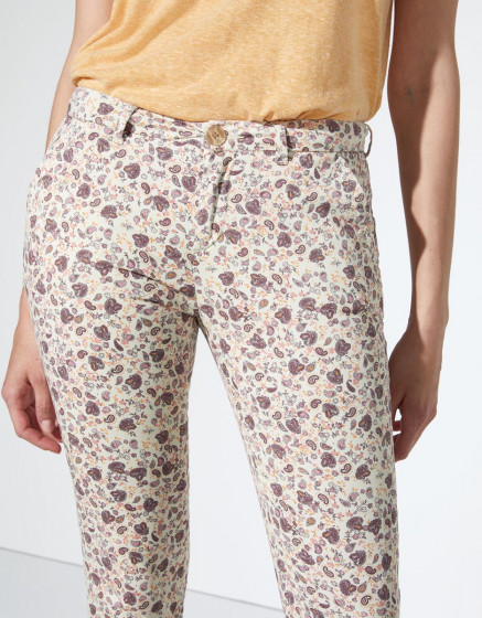 Pantalon chino Sandy Cropped Printed - CASHMERE FOLK