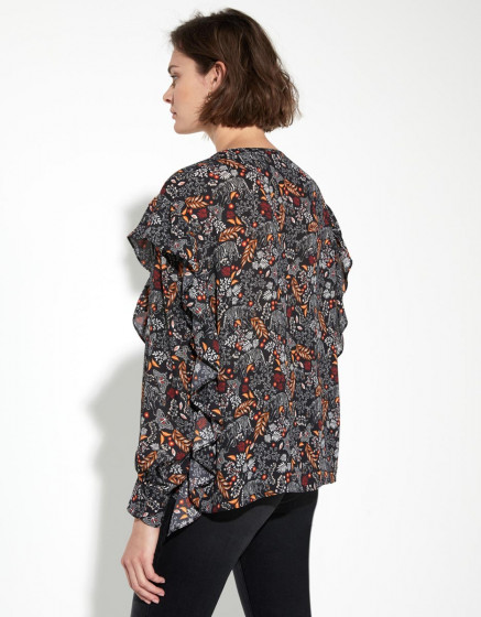 Blouse Berry - RETRO JUNGLE