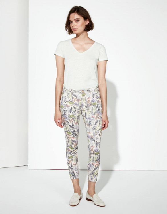 Pantalon chino Sandy Cropped Printed - TROPICAL SKIN