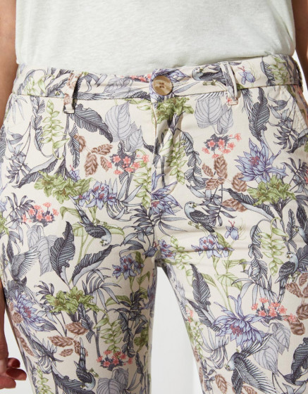 Chino trousers Sandy Cropped Printed  - TROPICAL SKIN