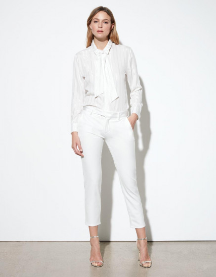 Cigarette trousers Leandro - WHITE