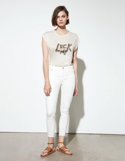 Jean skinny cropped Lily Herring - DNM OFF WHITE